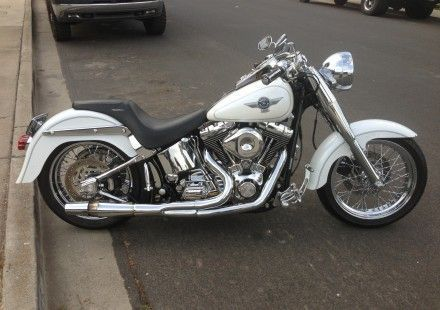 2005 Harley-Davidson FLSTFI Cruiser , White, 13,000 miles for sale in Calabasas, CA