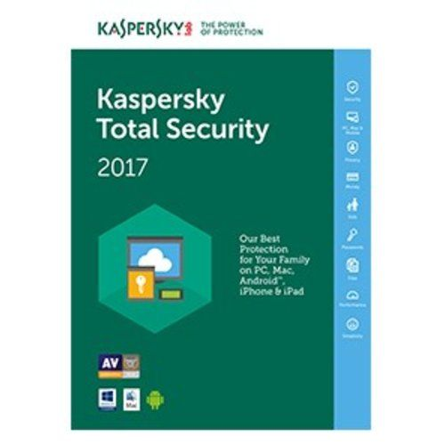 Software : Kaspersky total security 2017 per pc/mac/android 1 user 1 anno