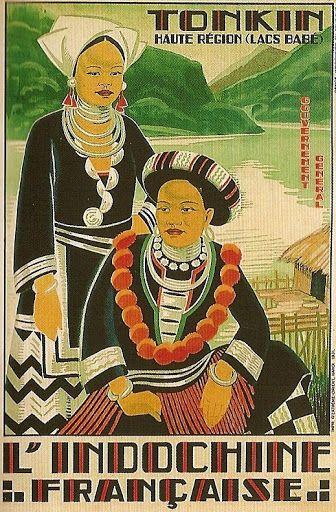 Vintage Travel Poster - Tonkin -l'Indochine Francaise - 1931 JOS-HENRI PONCHIN (1897-1962)..