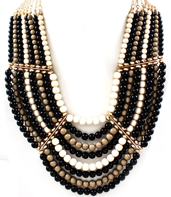 Gld Blk Necklace