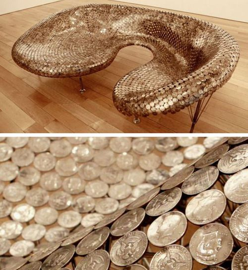 Coin Sofa - just all kinds of crazy awesomeness
