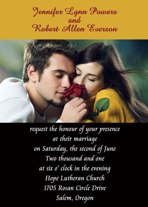 Fine Sharing Photo Wedding Invitations IWP021