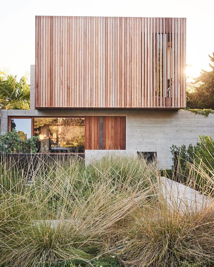 "7,828 Likes, 127 Comments - Dwell (@dwellmagazine) on Instagram: ""A landscape of native grasses designed by GSLA Studio complements the raw textures of the concrete-…"""