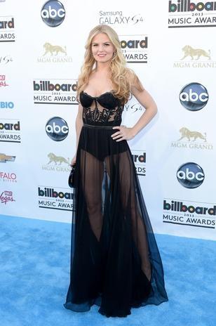 Billboard Music Awards 2013: La alfombra azul en fotos - Las transparencias del vestido de la actriz Jennifer Morrison hacían notar su sexy figura.