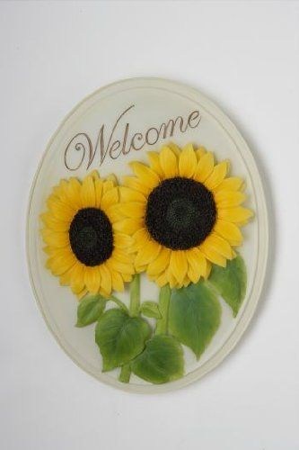 """Sunflower - Welcome Plaque By Ibis & Orchid Designs by Ibis & Orchid Designs. $15.59. Exquisite Detail. 7 Inches X 9 Inches. Hand Painted. Durable Bonded Marble. Vivid Design & Colors. What a lovely addition to greet your family and guests as they come to your home, office, garden or special spot. Ibis & Orchid design has provided a beautifully sculpted """" Welcome Plaque """" with many styles to fit just right with your decor. Bold and dynamic detail on each plaque, ..."""