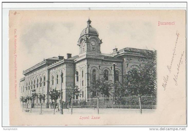 Bucuresti - Liceul Lazar - antebelica