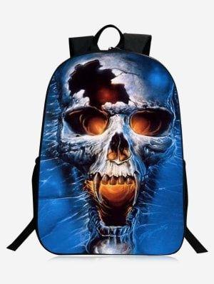 Stylish Skull Backpack - Blue