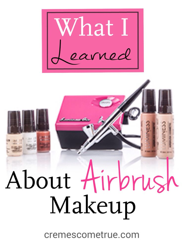I love this!  Tips and tricks for airbrush makeup.                                                                                                                                                                                 More