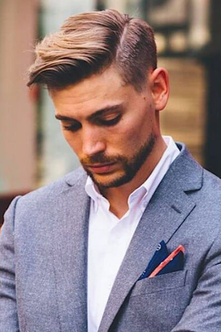 side part mens haircut