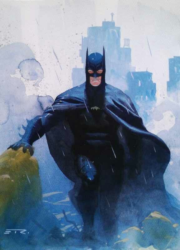 Batman: Batman By Esad Ribic, Batman Sdcc, Batman Beyond Commiss, Comic Books, Dc Comic, I M Batman, Ribic Art, Comic Art, Superhero