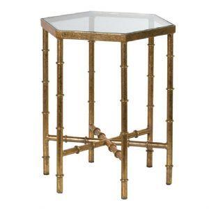 Gold Hexagonal Side Table