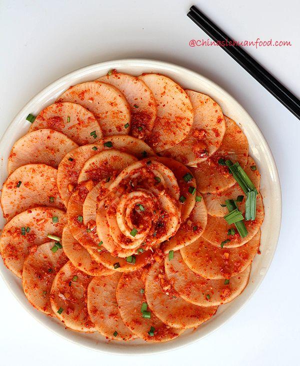 korean style spicy white radishwhiteradish|ChinaSichuanFood