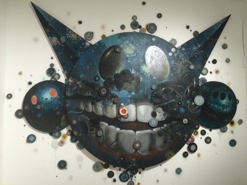 Check out this great wall piece from artist Jeff Soto from the Juxtopoz Magazine gallery show in Los Angeles.  We covered this whole show and you can check it out on our BLOG.  Go peep it!