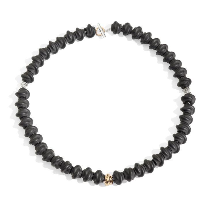 Collana in jet e nodini  bracelet necklace silver gift women gioiello moda fashion jewellery beautiful gold giaietto
