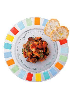 【ELLE a table】なすと鯵のぴり辛トマト煮レシピ エル・オンライン