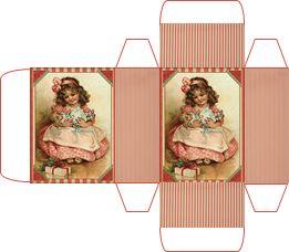 Miniature Printables - Vintage Box.   Schachtel selbst entworfen.
