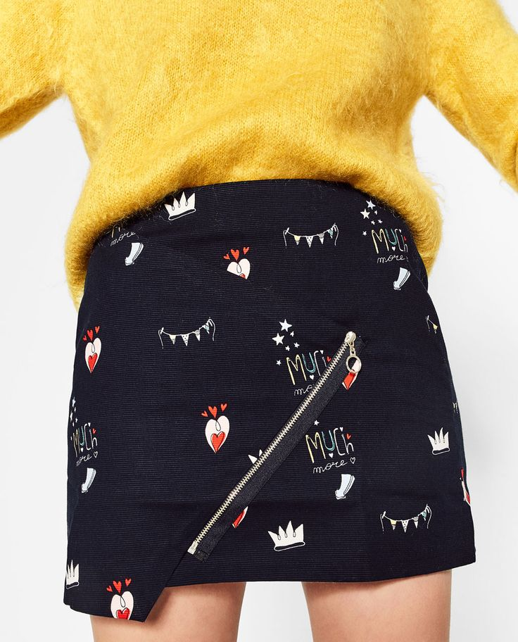 Image 3 of PRINTED MINI SKIRT from Zara