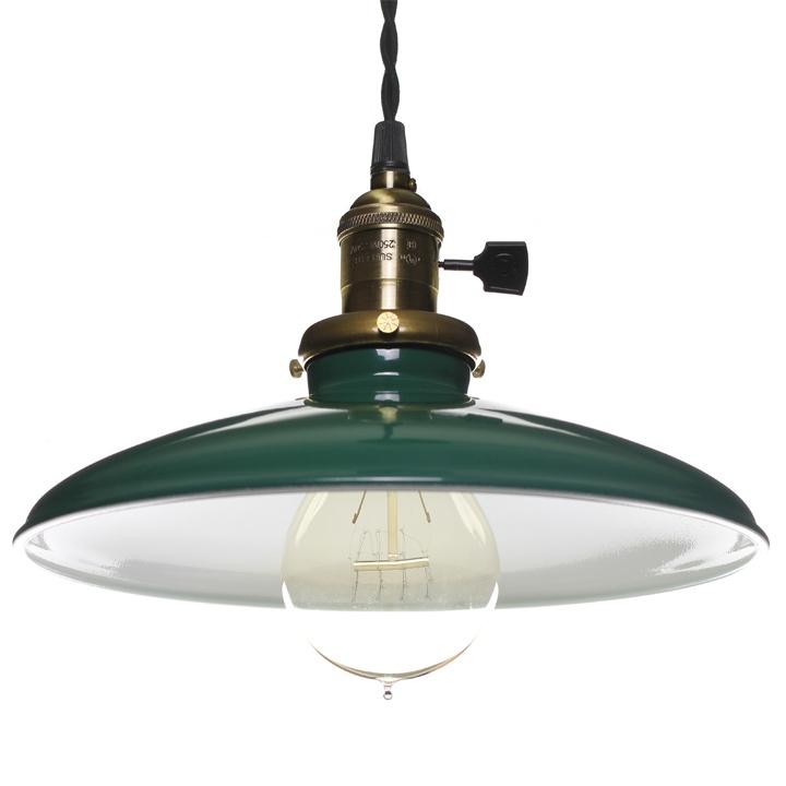enamel pendant light green home
