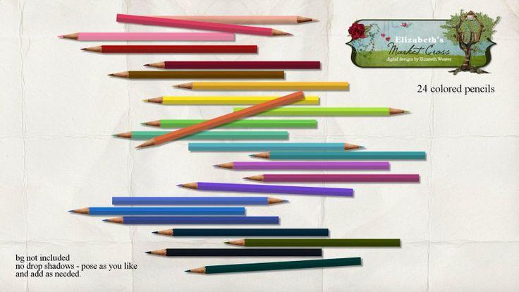 Colored Pencil Element Set