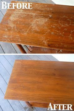To fix scratches in wood furniture mix about 1/2 cup vinegar with 1/2 cup of olive oil.Use a kitchen rag and just dip it in and rub it on the scratches,keep going until you go over all the scratched areas Before It's green, cheap and easy way which will get you amazing results specially on …