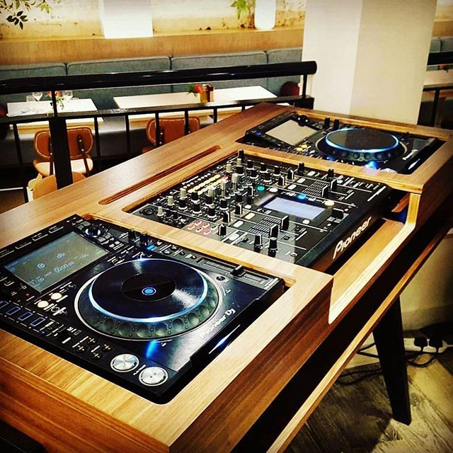 Sophisticated #DJ booth