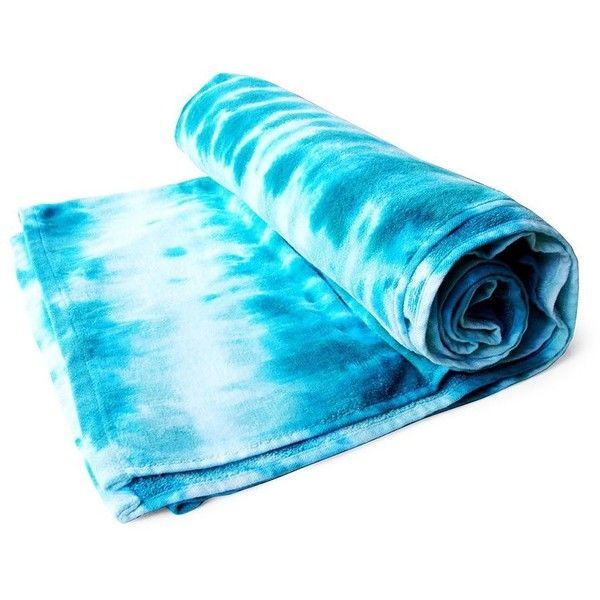 Brika Tie-Dye Oversize Beach Towel ($48) ❤ liked on Polyvore featuring home, bed & bath, bath, beach towels, sea spray, tie dye beach towel and oversized beach towels