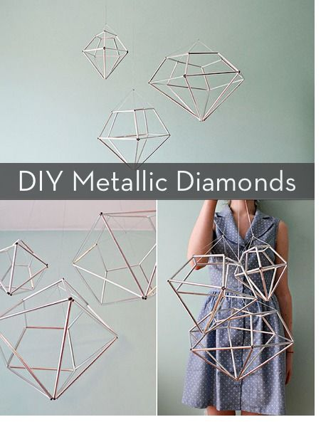 Make It: Metallic Diamond Drops