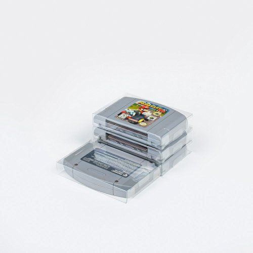 25 Mario Retro N64 Clear Plastic Protectors sleeve Video ...