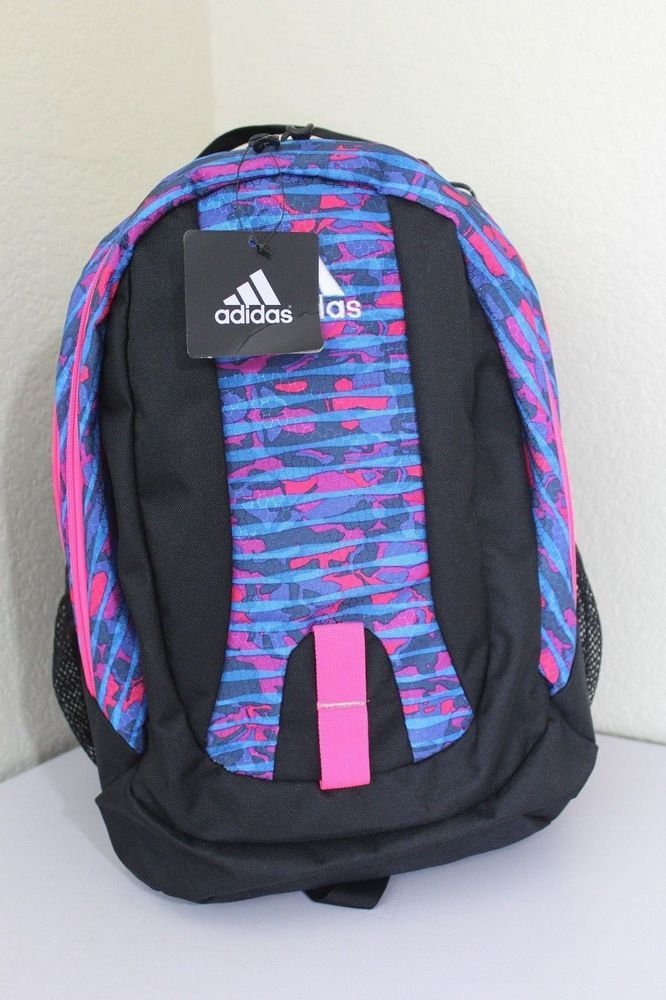 Adidas journal backpack women girl blue pink black padded straps ... 42fb54b94b576