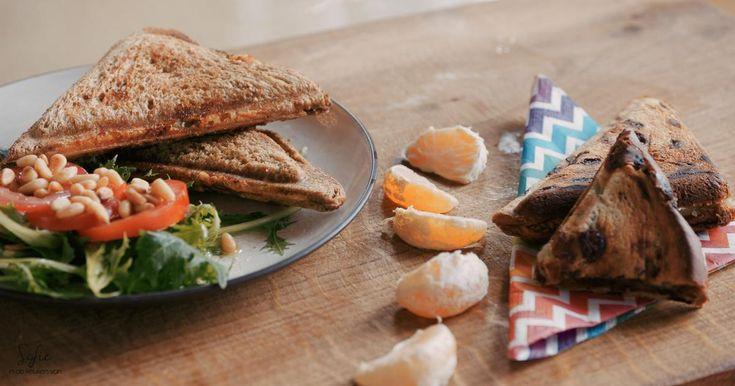 Hartige croque monsieur met kip en pesto of zoete croque met peperkoek en mandarijn