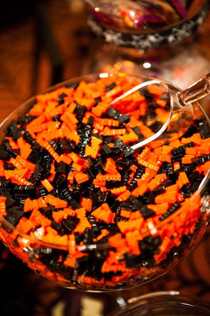 Halloween candy buffet idea - Classic Halloween Wedding Tamara Jason Halloween Wedding Candy Buffet