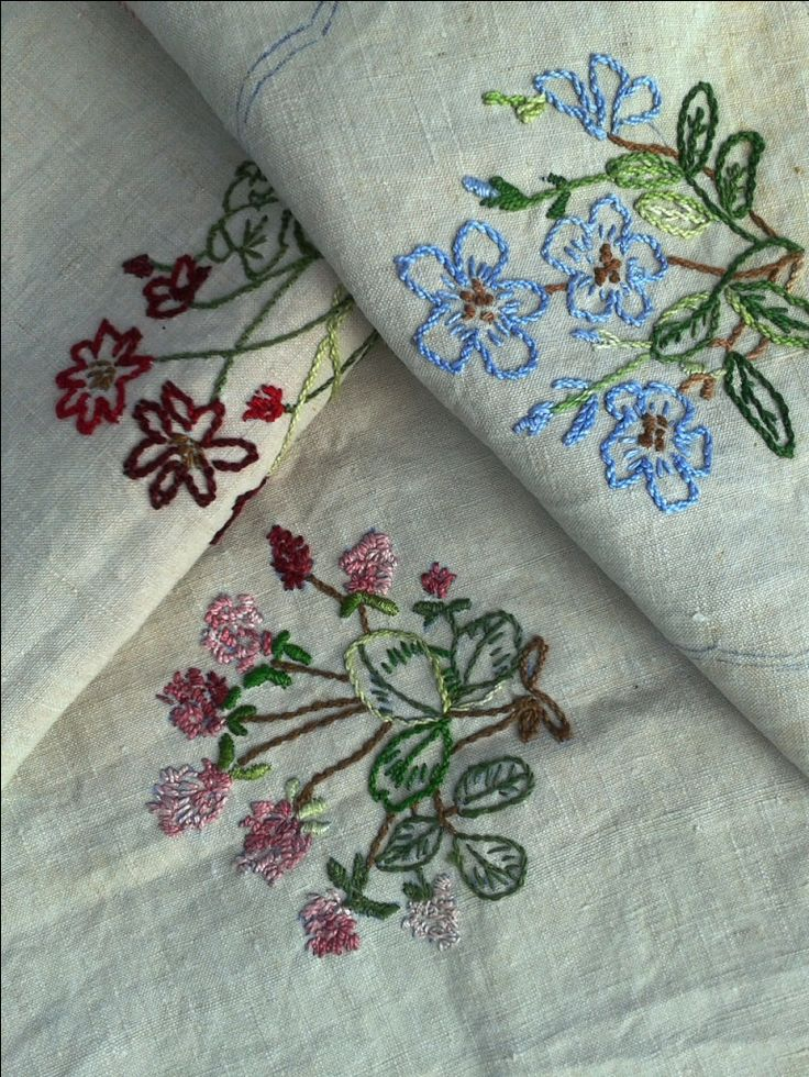 3 French Embroidered Linen Napkins Part Finished - Doily Table Centre Vintage Mat Floral Shabby Chic Cottage Vintage Table Linen by FrenchVintageTextile on Etsy https://www.etsy.com/listing/155090548/3-french-embroidered-linen-napkins-part