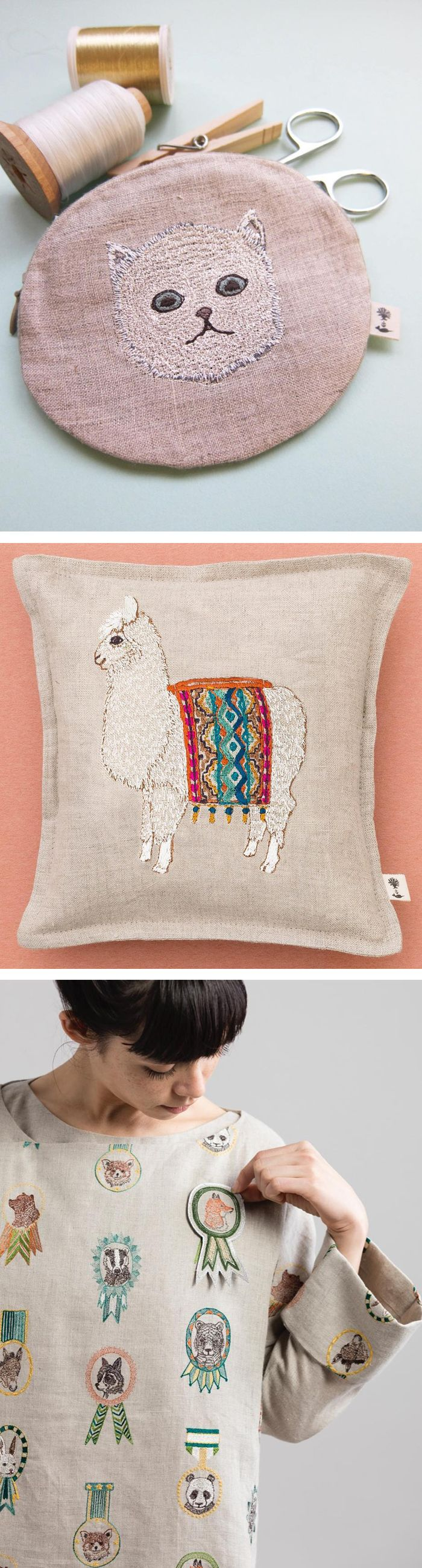 Embroidery by Coral & Tusk // embroidered goods // merit badges // llama art