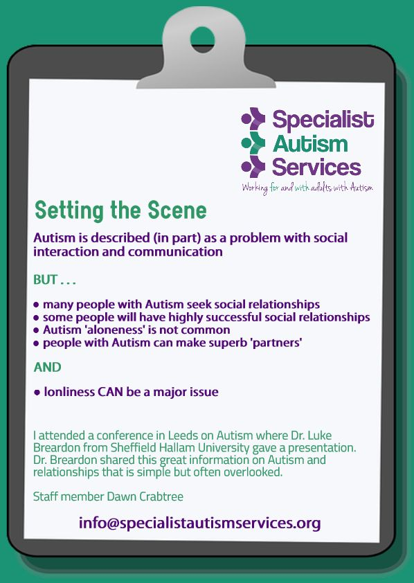 We provide a range of services including group social skills workshops (through an autism-specific learning programme), information and guidance, autism-specific counselling, employment support, autism awareness training and community outreach support.  Under the name Autism First we also provide bespoke support for adults with autism and additional needs.