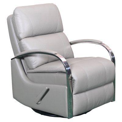 Barcalounger Regal Swivel Glider Recliner Lavin Ash - 84010552493