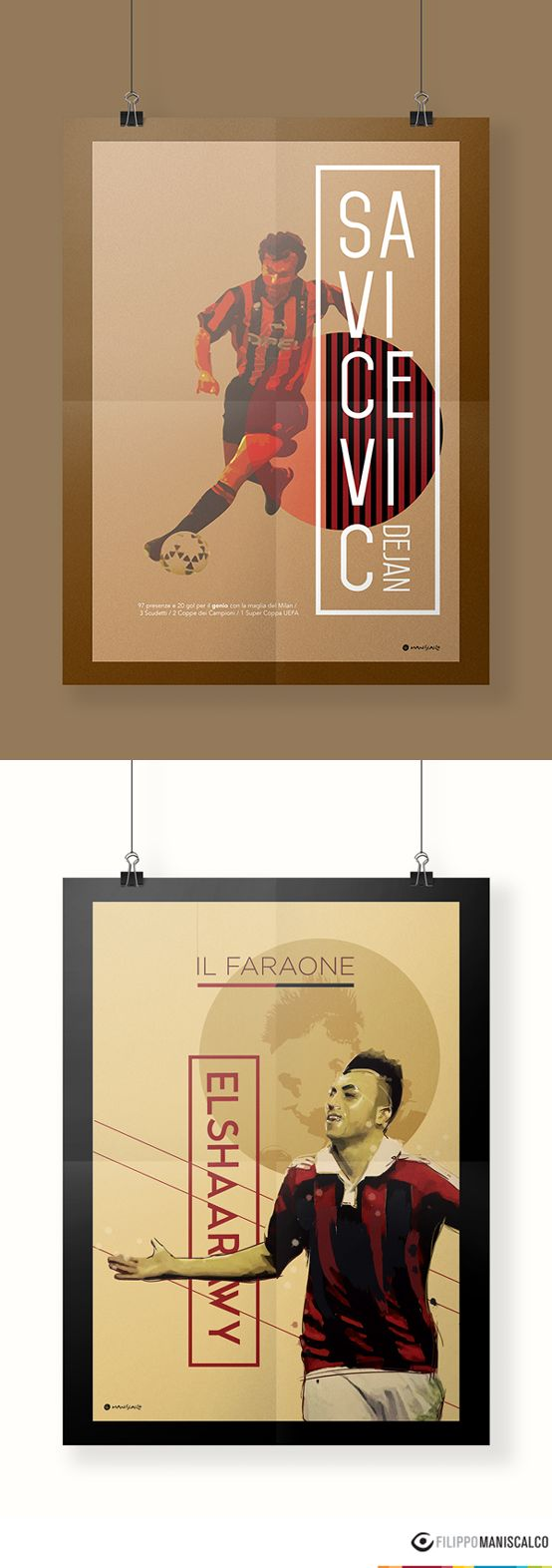 Collection of nine players on the illustrations of the 'Series A, the most beautiful championship in the world'. Graphic reproductions made through different styles. #SerieAPoster #Savicevic #Genio #ElShaarawy #ACMilan    In Stock $33.28