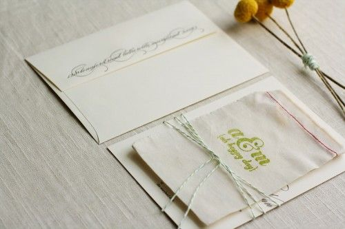 Ashley + Matt's Elegant Apple Green and Black Wedding Invitations