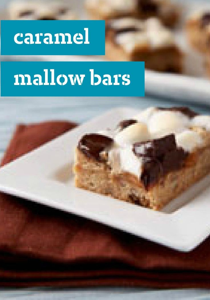 Caramel Mallow Bars – In this dessert recipe, pecan shortbread crust ...