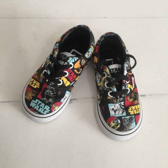 Star Wars Vans for kids! Size 5 Star Wars vans for kids - worn once in the house, looks brand new Vans Shoes Sneakers