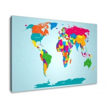 Colorful World MapDecor Ideas, Immigration Route, Maps Colors, Living Room, World Maps, Maps Bright, Axop Industrial, Bright Colors
