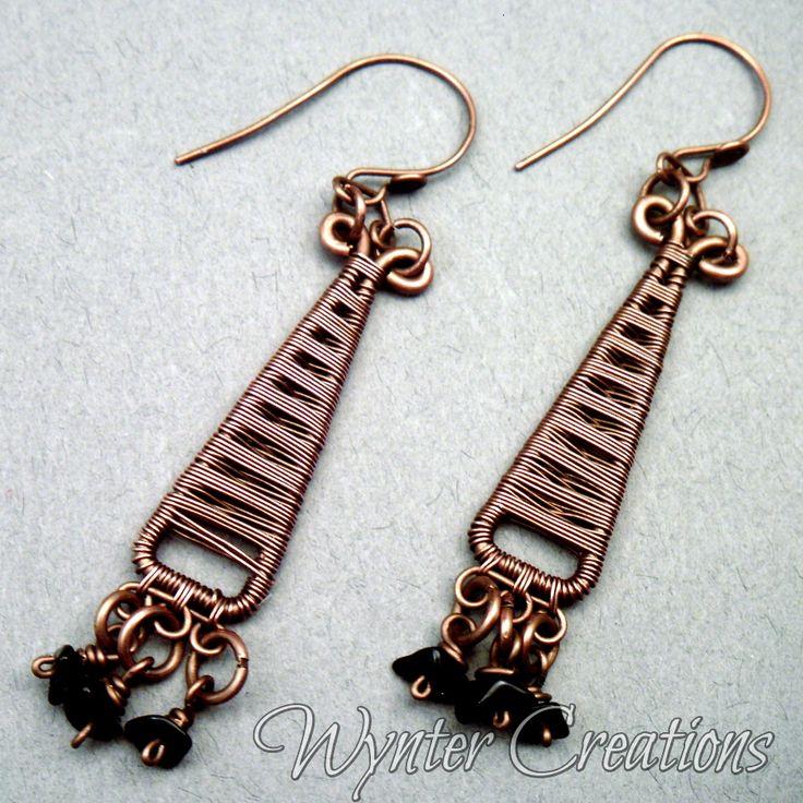 573 best Wire Wrap - Earrings images on Pinterest | Ear studs ...