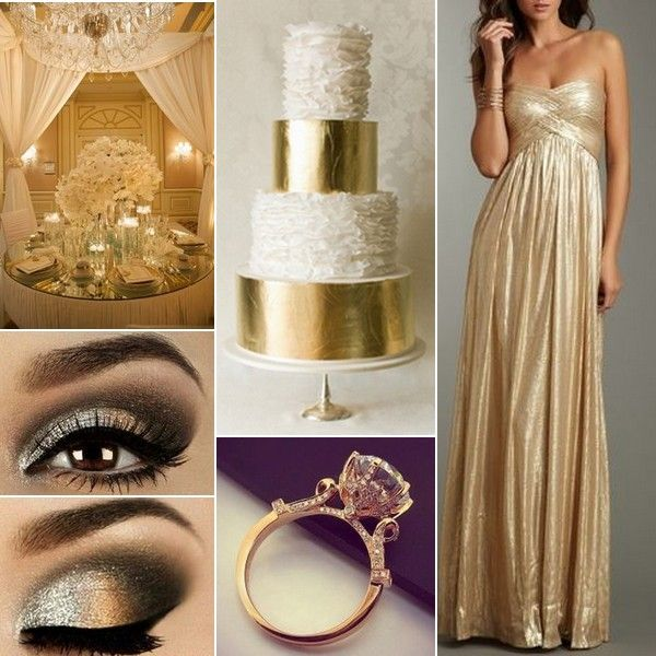 Winter Wedding Inspiration: Gold and White