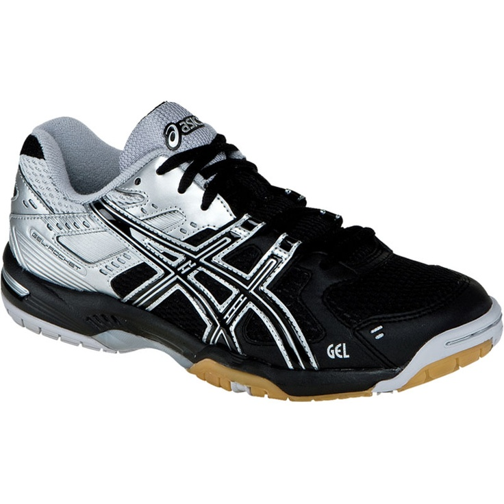 Black/Silver ASICS Women's Gel-Rocket 6 Volleyball Shoe I'm size 11 ha ha  comment if u are Bigfoot to