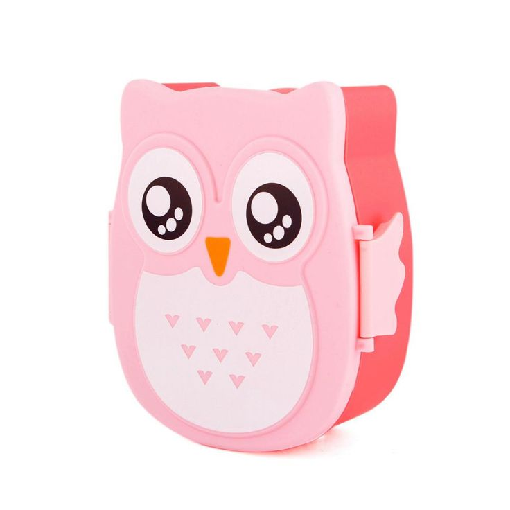 Children Cartoon Owl Lunch Box 4 Colors Portable Microwave Food Bento Containers Baby Storage Boxes Bins Christmas Gifts
