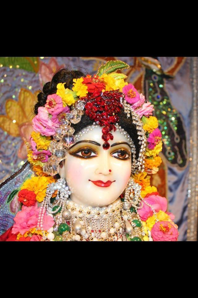 Gorgeous Srimati Radharani at New Talavan. Feeling separation...