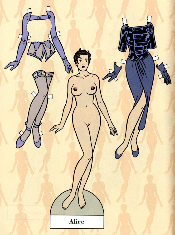 "Alice and her clothes - Art by Roberto Baldazzini - Board ""Art - Roberto Baldazzini"""