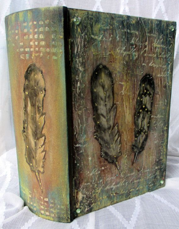 FREE SHIPPING Wooden box-book:  Wild Spirit   by LettersFromHelen