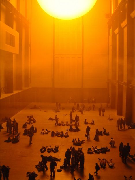 Olafur Eliasson The Weather Project in the Turbien Hall, Tate Modern 16 October 2003 - 21 March 2004