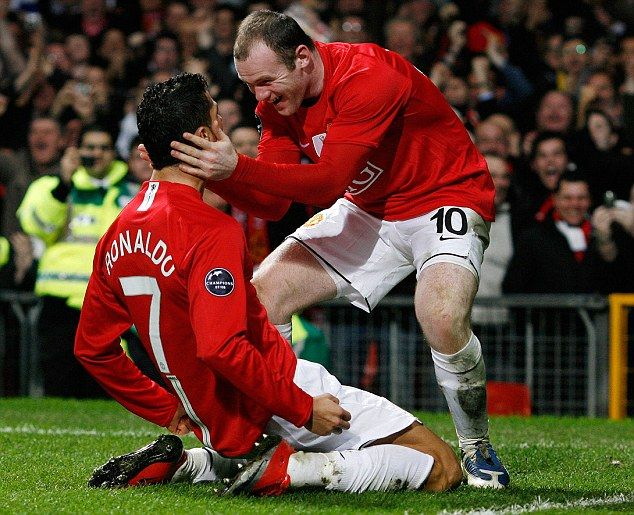 Rooney and Ronaldo formed a deadly partnership at Manchester United