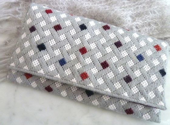 needlepoint clutch